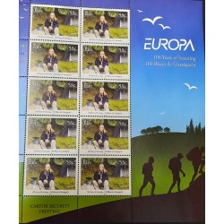 A) 2008, IRELAND, JOINT ISSUE WITH EUROPE, 100 YEARS OF THE SCOUTS MOVEMENT