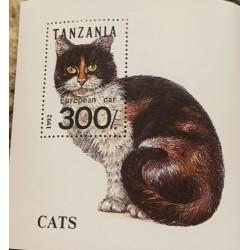 SA) 1992 TANZANIA, CAT, PET, MINISHEET, MNH