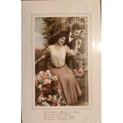 A) 1920 ARGENTINA POSTCARD ROMANTICISM