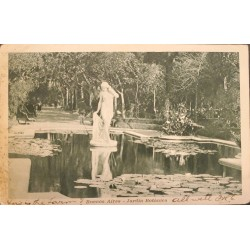 A) 1920 ARGENTINA, POSTCARD, BOTANICAL GARDEN, BUENOS AIRES, IN BLACK AND WHITE, XF