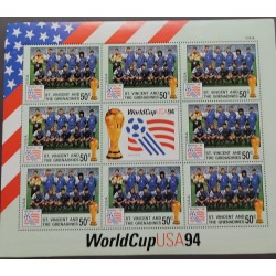 SL) 1994 SAN VINCENT AND THE GRENADINES, WORLD CUP USA 94, FOOTBALL, FOOTBALL TEAMS, FLAG, MNH.