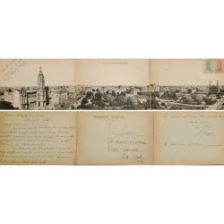 A) 1921 ARGENTINA, POSTCARD, GRAL SAN MARTIN, SHIPPED TO NEW YORK FROM BUENOS AIRES, PANORAMA OF BAHÍA BLANCA