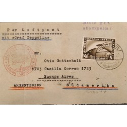 A) 1934 GERMANY, AIR MAIL, GRAF ZEPPELIN, FROM FRIEDRICHSHAFEN TO BUENOS AIRES - ARGENTINA,