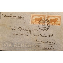 A) 1936 ARGENTINA, AIR FRANCE, LANAS, FROM BUENOS AIRES TO BAHIA - BRAZIL