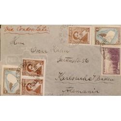 40 ARGENTINA, RIVADAVIA, LATI, VIA CONDOR, FROM BUENOS AIRES TO GERMANY,