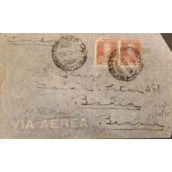 A) 1935 ARGENTINA, GENERAL SAN MARTIN, SENT TO BAHIA - BRAZIL, CONDOR, AIR MAIL