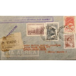 A) 1950 ARGENTINA, FROM PARANA TO CADIZ - SPAIN, CERTIFIED AND REGISTERED
