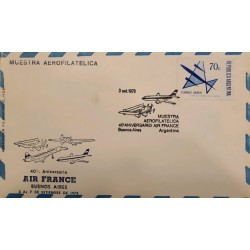 A) 1973 ARGENTINA, AIR MAIL, AEROFILATELICA SHOW, AIR FRANCE, BUENOS AIRES, XF