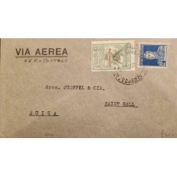 A) 1931 ARGENTINA, GRAL SAN MARTIN, FROM BUENOS AIRES TO SWITZERLAND, AIRPORT, AIR SERVICE SURCHARGE, XF