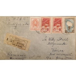 A) 1948 ARGENTINA, FIRST MAIL TO THE ANTARTICA, VIA B.S.A.A, SENT TO GERMANY,