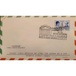 A) 1961 ARGENTINA, CABILDO DE BUENOS AIRES - LARREA Y MATHEU, ALITALIA