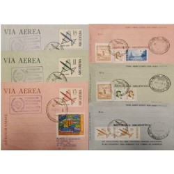 A) 1974 ARGENTINA, AIRPORT SERIES, INTER-AMERICAN PHILATELY EXHIBITION, SENT TO ENGLAND