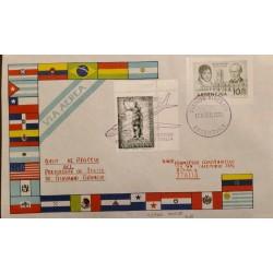 A) 1961 ARGENTINA, CABILDO DE BUENOS AIRES - LARREA AND MATHEU, FROM BUENOS AIRES TO ROME