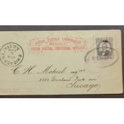 SL) 1883 MEXICO, ENTERO POSTAL, JUAREZ, CORREO MARITIMO, FROM VERACRUZ VIA HAVANA, TO CHICAGO TRANSITO IN NEW YORK