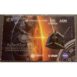 SL) 2019 MEXICO, FIRST MEXICAN NANOSATELITE, COMMUNICATIONS, NASA, ASTRONOMY, UPAEP, MNH.