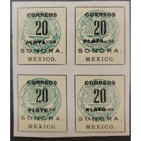 SL) MEXICO, SONORA, SC 409a, WORD SILVER MOVED