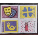 L) 1996 SWEDEN, MASK, DONT WORRY BE HAPPY, DO YOU REMEMBER ME, HEART, MNH