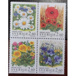 L) 1996 SWEDEN, FLOWERS, NATURE, MULTIPLE STAMPS, MNH