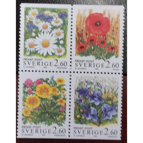 L) 1995 SWEDEN, FLOWERS, NATURE, FLORA, YELLOW, MNH